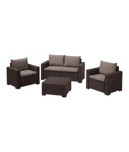 ALLIBERT /192591/ ZAHRADNY SET CALIFORNIA 2 BROWN + BEIGE