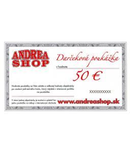 NOVA ESHOP Poukazka ANDREASHOP (platnost 6 mesiacov) 50,- Euro