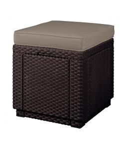 ALLIBERT /209435/ TABURETKA S PODUSKOU CUBE BROWN + BEIGE