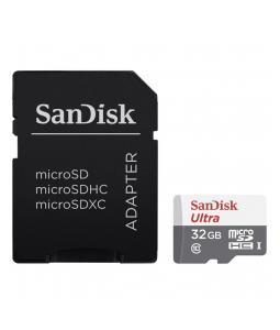 HAMA 173460 SANDISK ULTRA MICROSDHC 32 GB 80 MB/S CLASS 10 UHS-I, ADAPTER