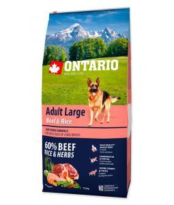 ONTARIO DOG ADULT LARGE BEEF & RICE(12KG)