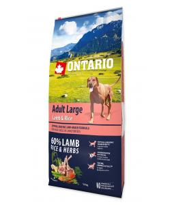 ONTARIO DOG ADULT LARGE LAMB & RICE & TURKEY(12KG)