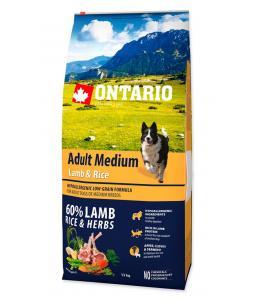 ONTARIO DOG ADULT MEDIUM LAMB & RICE(12KG)