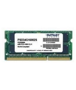 PATRIOT 4GB SIGNATURE LINE 1600MHZ DDR3 CL11 SODIMM PSD34G16002S